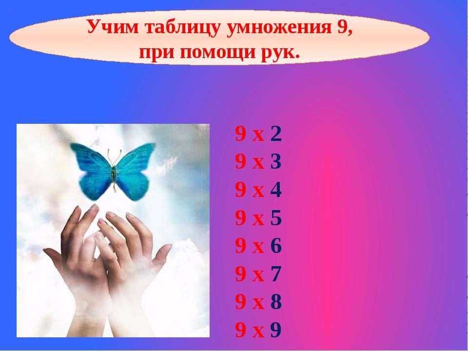 9 х 2 9 х 3 9 х 4 9 х 5 9 х 6 9 х 7 9 х 8 9 х 9 Учим таблицу умножения 9, при...