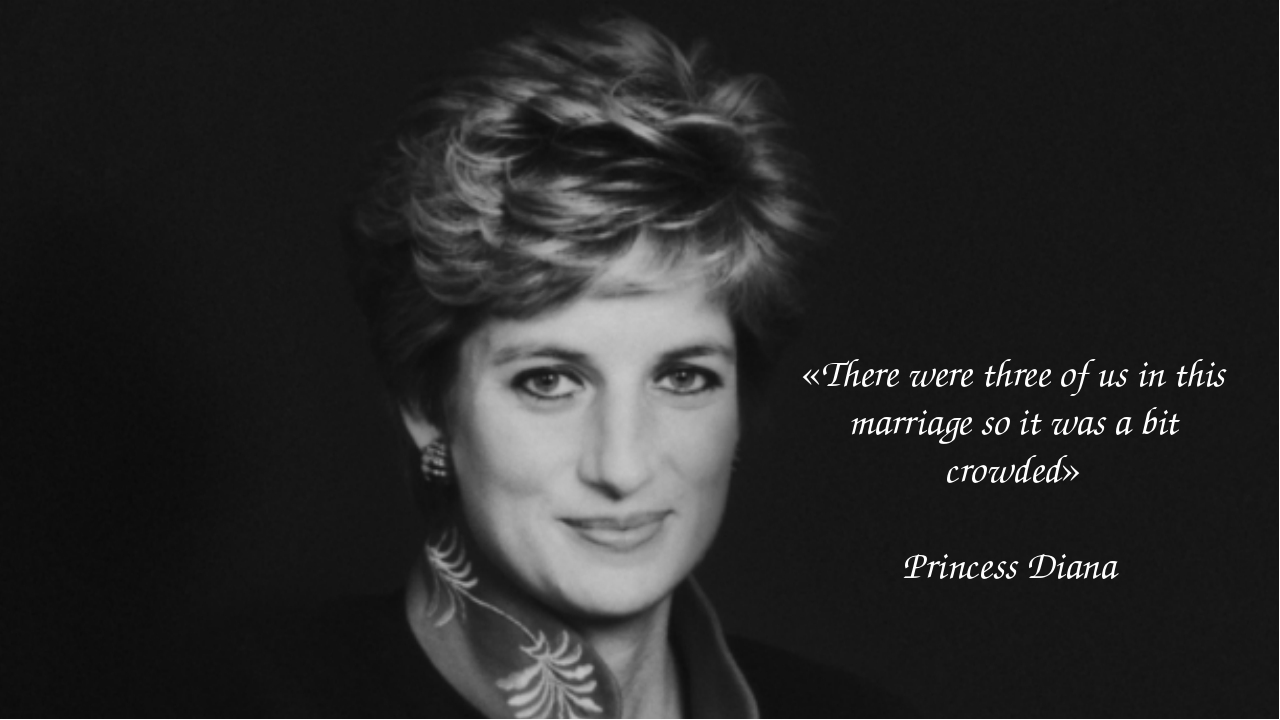 «There were three of us in this marriage so it was a bit crowded» Princess Di...