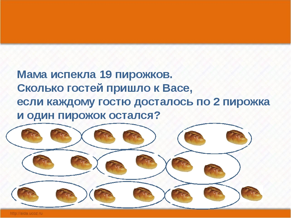 Мама испекла 19 пирожков. Сколько гостей пришло к Васе, если каждому гостю д...