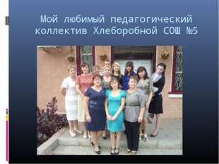 Мой любимый педагогический коллектив Хлеборобной СОШ №5