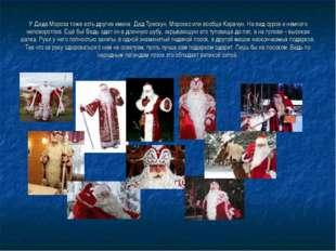 У Деда Мороза тоже есть другие имена: Дед Трескун, Морозко или вообще Карачун