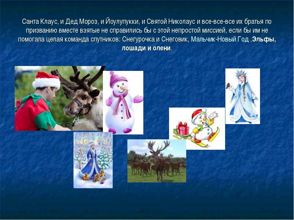 Санта Клаус, и Дед Мороз, и Йоулупукки, и Святой Николаус и все-все-все их бр...