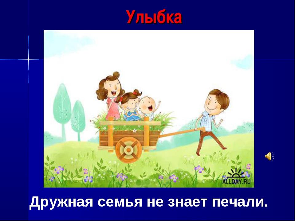 Улыбка Дружная семья не знает печали.