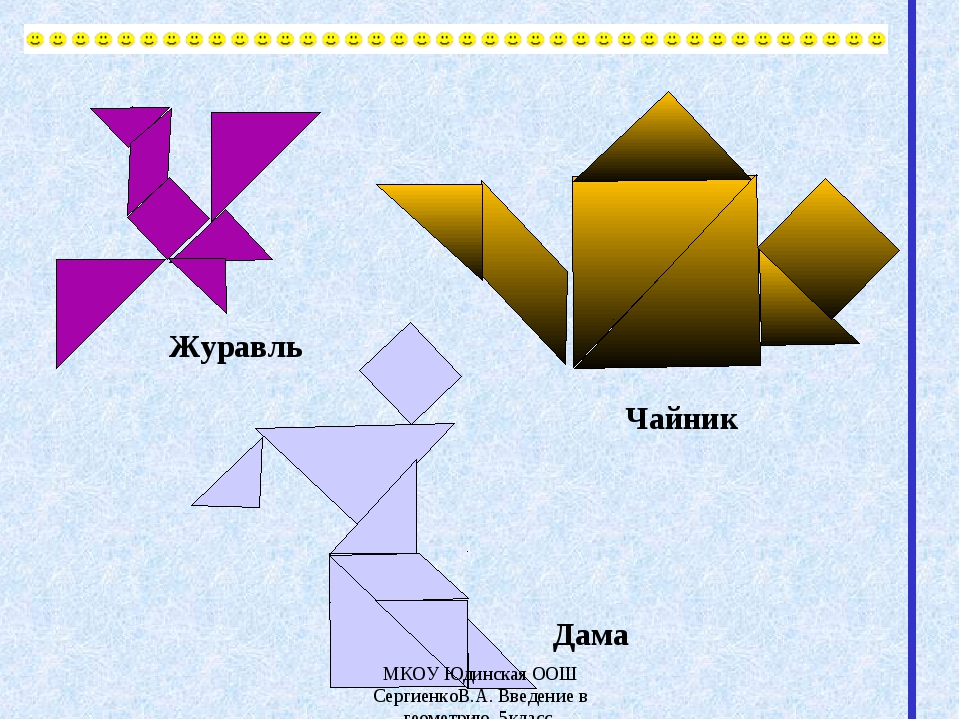 Журавль Дама Чайник МКОУ Юдинская ООШ СергиенкоВ.А. Введение в геометрию. 5кл...