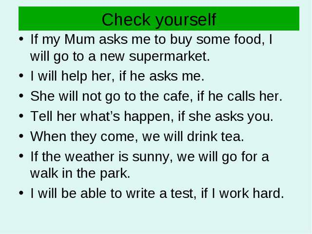 Check yourself If my Mum asks me to buy some food, I will go to a new superma...