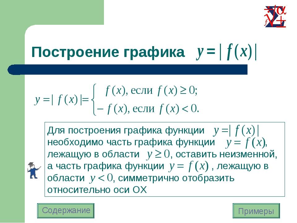 Построение графика Содержание Примеры