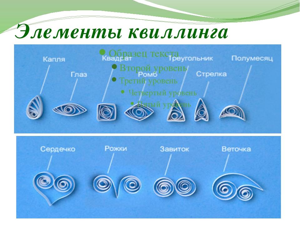 Элементы квиллинга