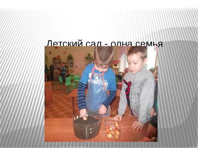 Детский сад - одна семья Будем вместе ты и я, Радостно трудиться.