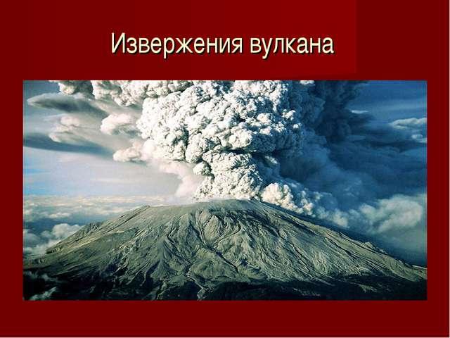 Извержения вулкана