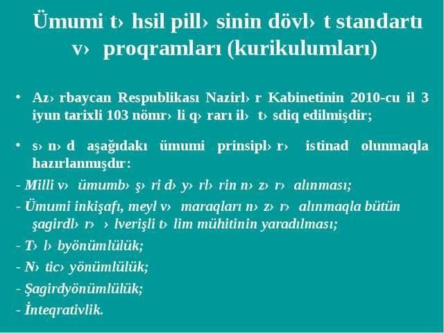 Azərbaycan Respublikası Nazirlər Kabinetinin 2010-cu il 3 iyun tarixli 103 nö...