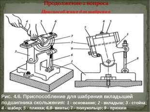 Приспособления для шабрения Рис. 4.6. Приспособление для шабрения вкладышей